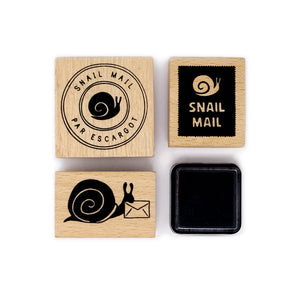 wit & whistle snail mail stamp set