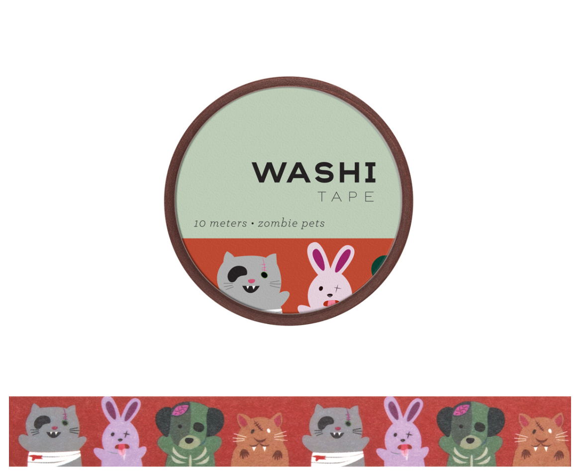 Zombie Pets Washi Tape, Girl of All Work