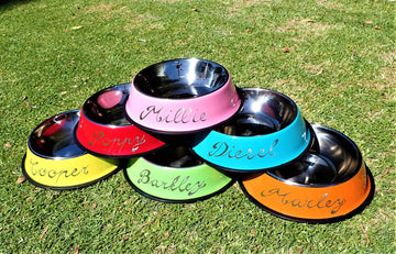 Personalised Pet Bowls - Engraved By Hand