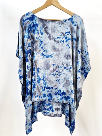 Eco-Dye Silk Poncho Top