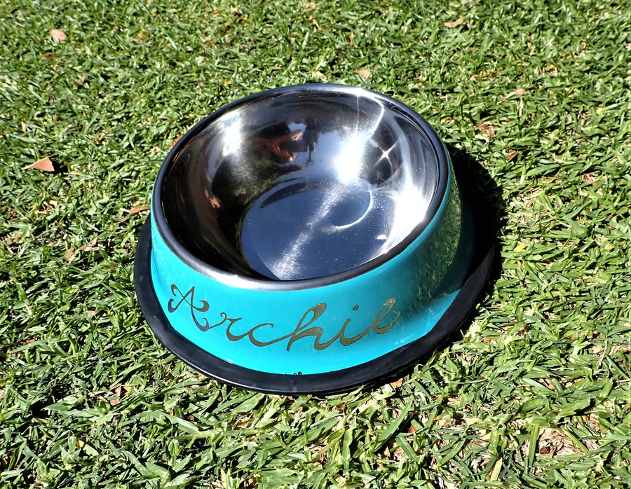 Personalised Pet Bowls - Engraved By Hand - for small dogs and cats