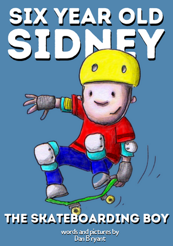 Six Year Old Sidney, The Skateboarding Boy - by Dan Bryant
