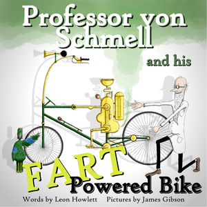 Professor Von Schmell and his Fart Powered Bike