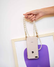 Load image into Gallery viewer, Phone case with double pearl cord