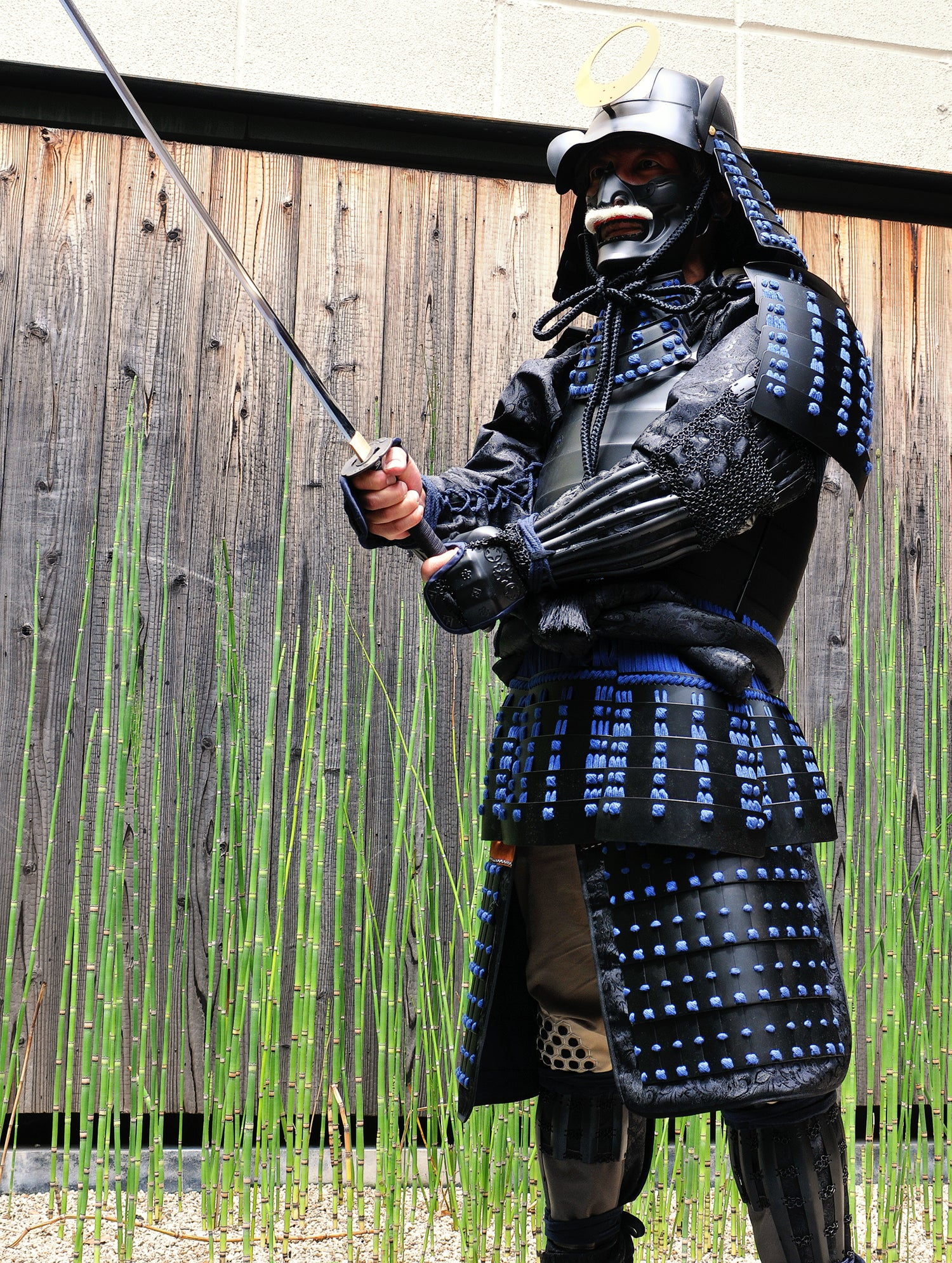 Yoroi-worn Samurai with Japanese sword