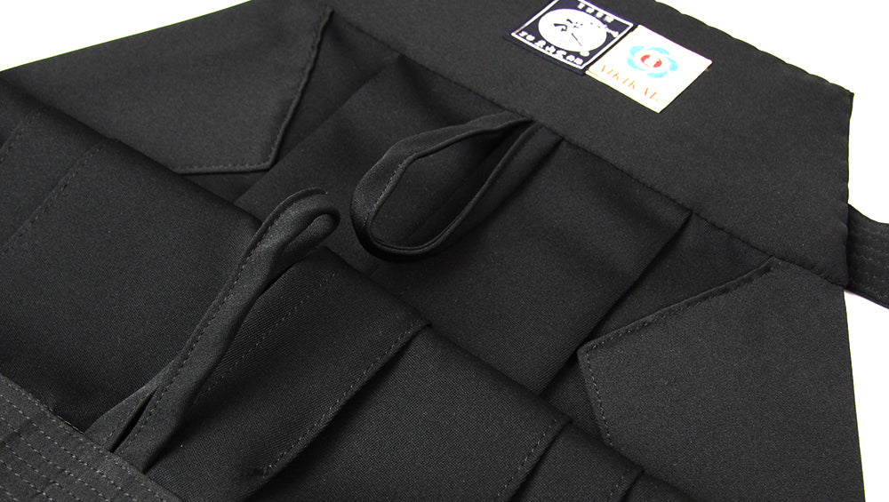 Loops for hang drying on Tozando Deluxe Polyester Aikido Hakama