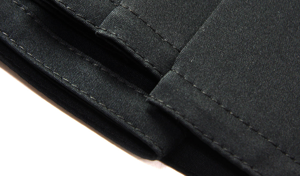Close up image of bottom hem part of Tozando Deluxe Polyester Aikido Hakama