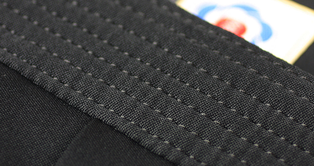 Seven lines of stitching on Obi belt of Deluxe Polyester Aikido Hakama