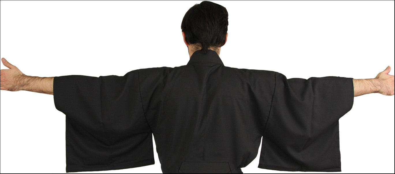 Back side view of Uchimizu Furyu Iaido Gi