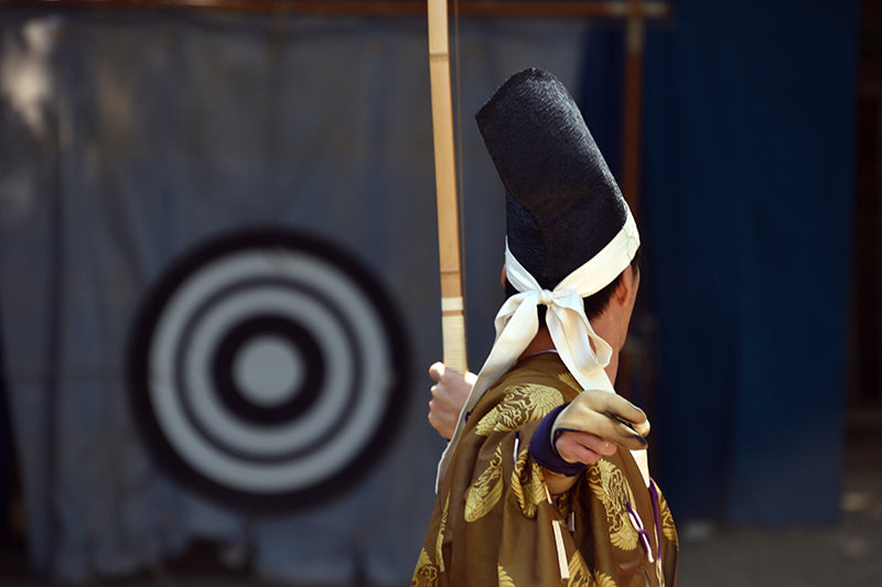 Zanshin exhibited after loosing an arrow in Kyudo.