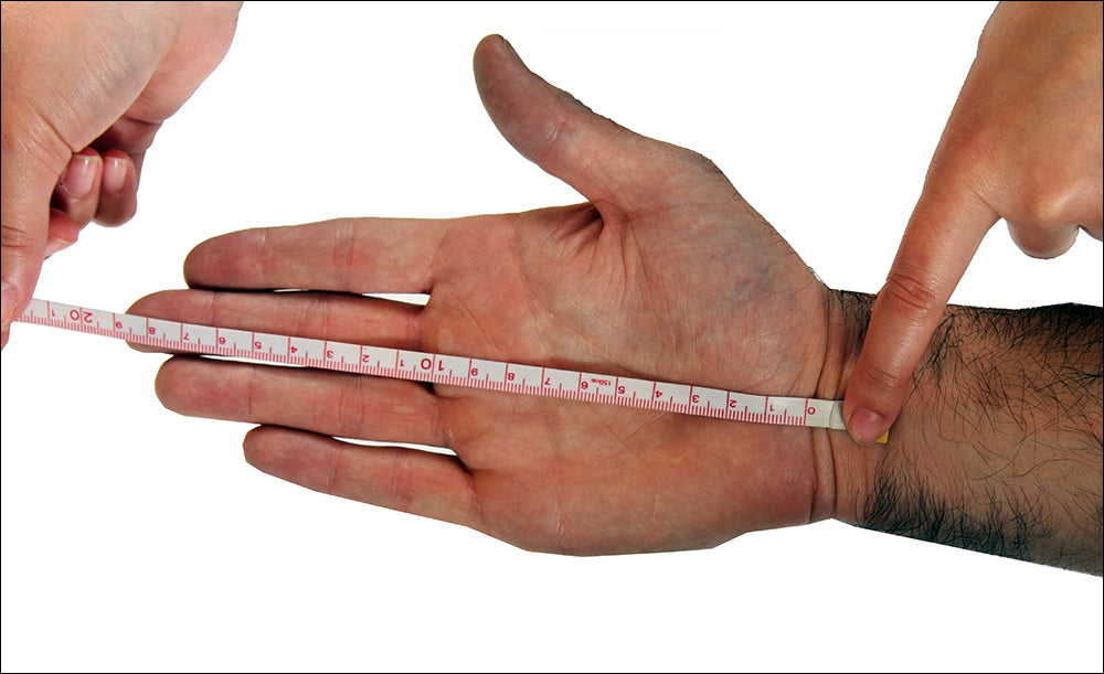 How to measure your palm length