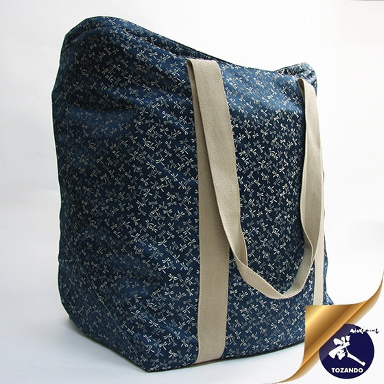 Custom bogu bag using tombo themed silk brocade.
