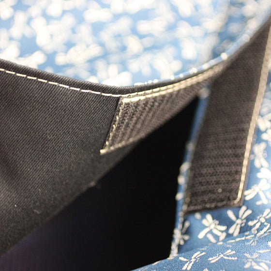 Close-up of the fastening and stitching of the bogu bag.