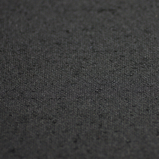 Close-up of the black fabric.