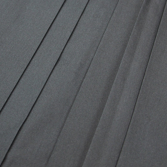 Close-up of the hakama pleats.