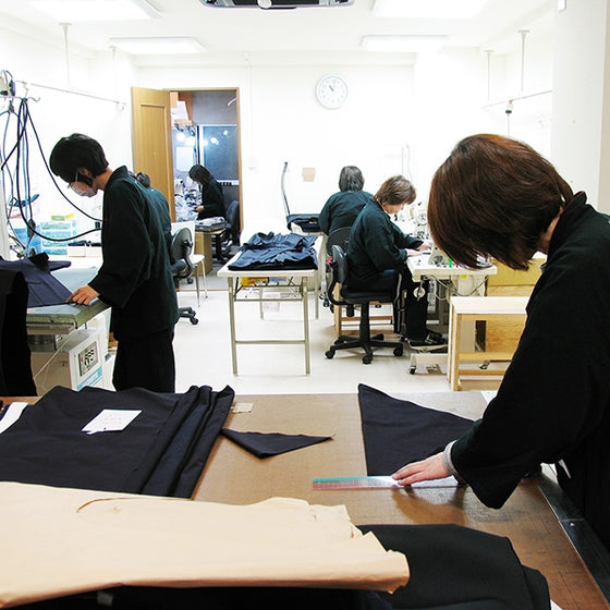 Another view of our Heian Tailors working on hakama.