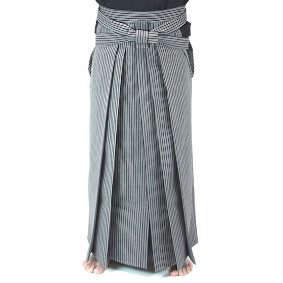 Full length front view of the hakama when worn.
