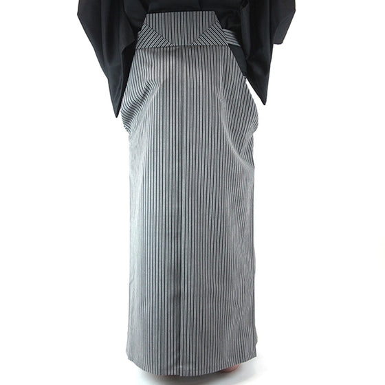 Full length back view of the hakama when worn.
