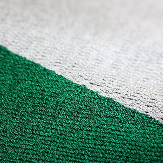 Kendo Zekken Flag Embroidery close up.