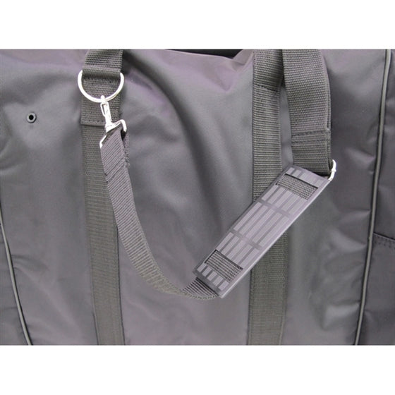 View of the detachable and adjustable shoulder strap.