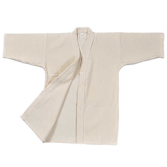 unbleached single-layer kendo gi front view