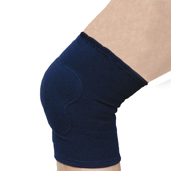 The knee protector shown when worn.