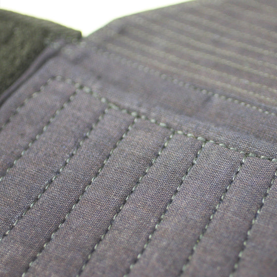 Close-up of the stitched kote padding.