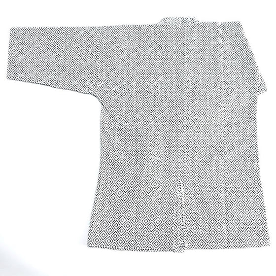 white edo zashi kendo gi back view