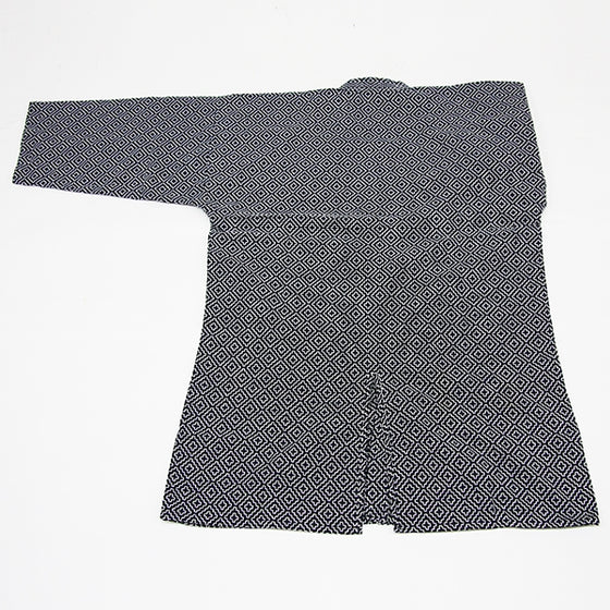 navy edo zashi kendo gi pattern back view