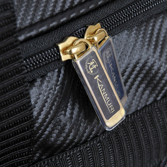 Close-up of the zip.