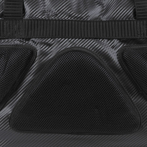 The padded side of the bogu bag.