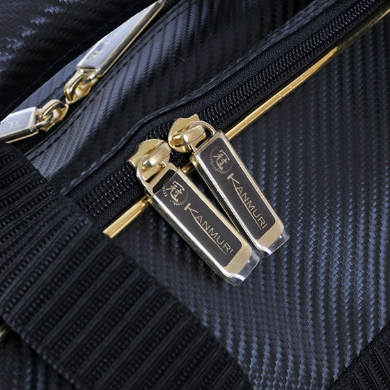 Close-up of the zips.