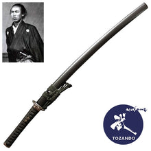 Full view of the iaito with the saya and the picture of Sakamoto Ryoma