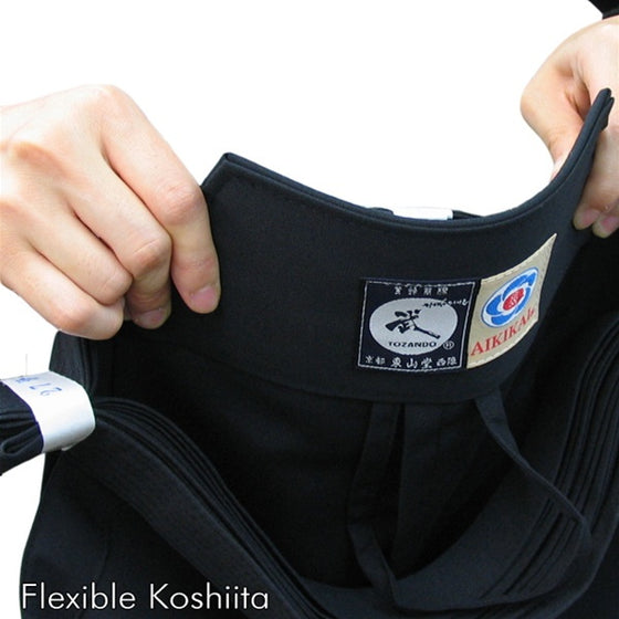 Deluxe Cotton Aikido Hakama TAKE flexible koshiita
