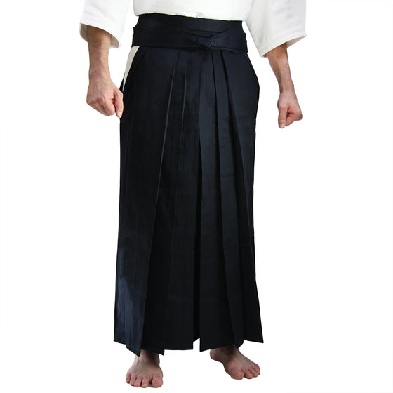 Deluxe Cotton Aikido Hakama TAKE front view model