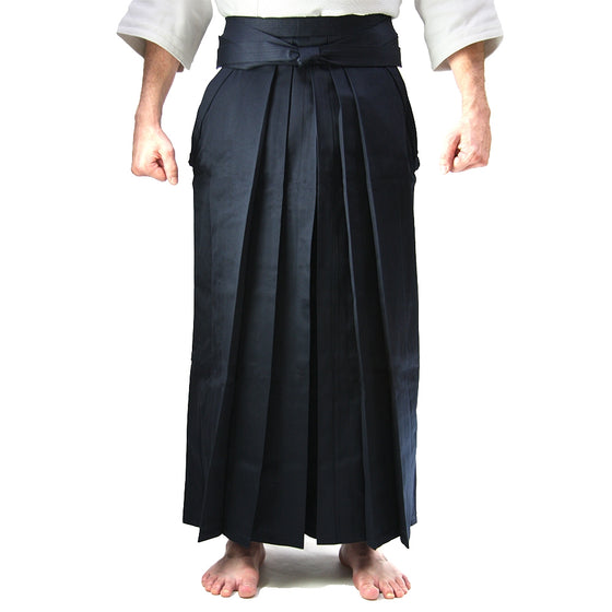 Deluxe Cotton Aikido Hakama TAKE front view model 2
