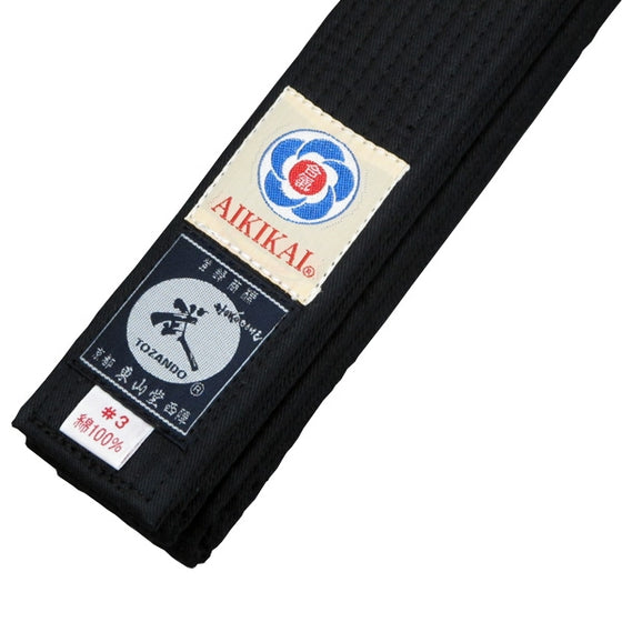 Aikido Obi Black Belt tags