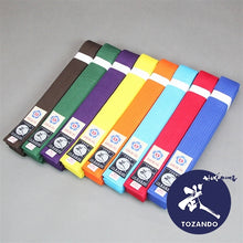 Color Aikido Obi Belt front view colors