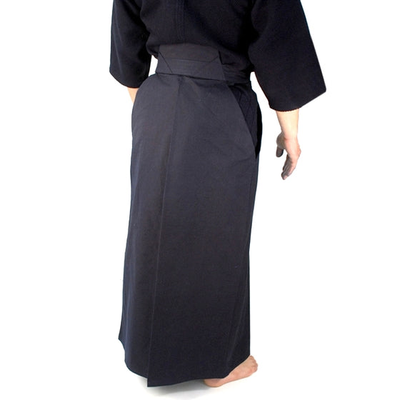 Full length rear view of the #11000 hakama.