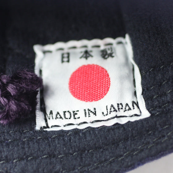 Close-up of the made in Japan tag.