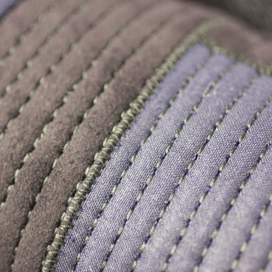 Close-up of the 6mm tight stitch futon.