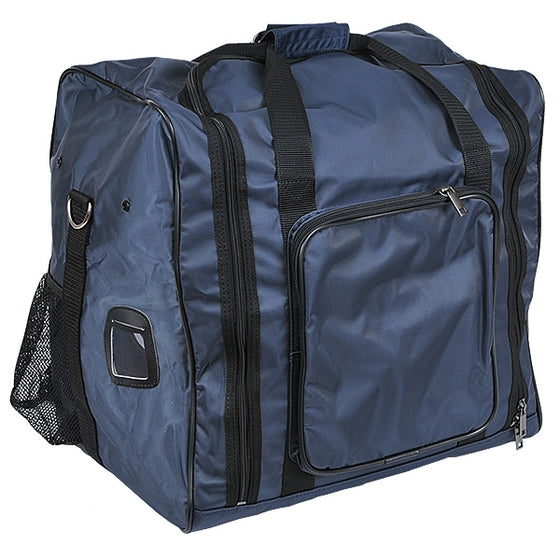 Full view of the navy bogu bag version.