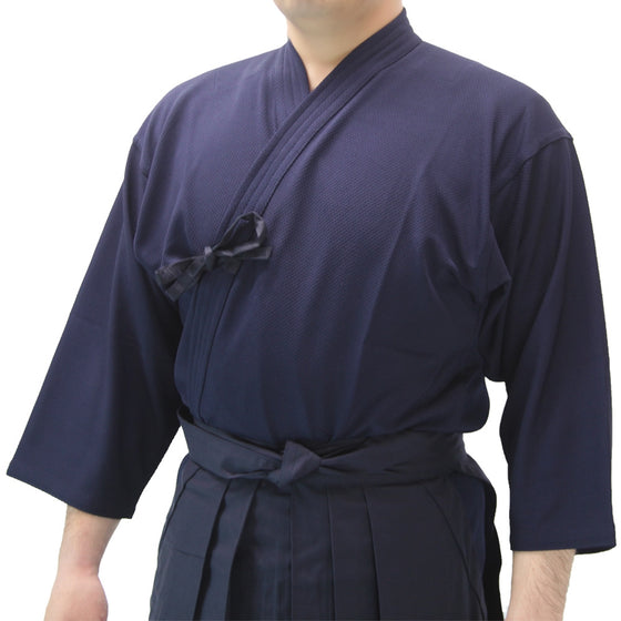 Navy variant worn with hakama.