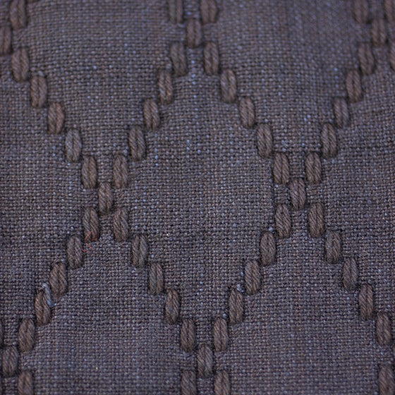 Lower hishi-zashi stitching close-up.