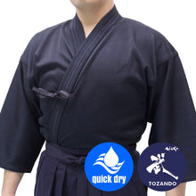 Front view, worn with hakama.