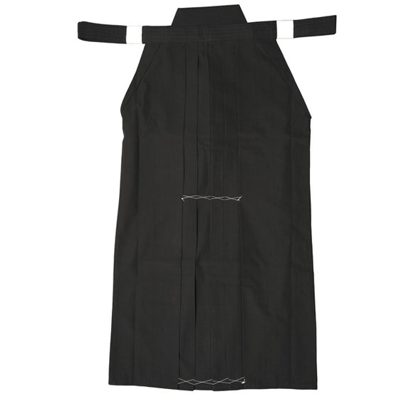 Full view of black hakama.