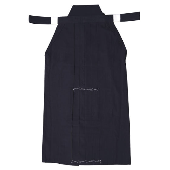 Full view of navy hakama.