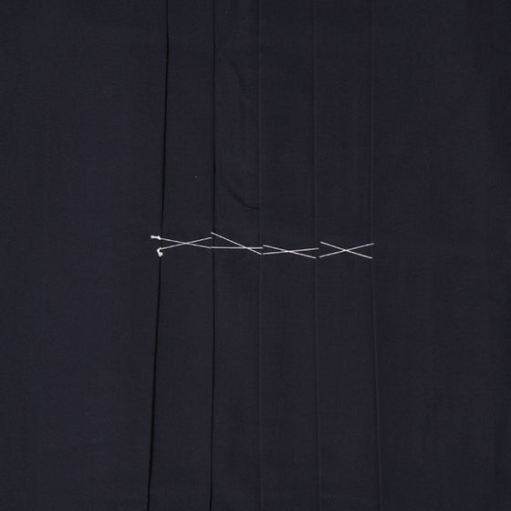 Close-up of front pleats.