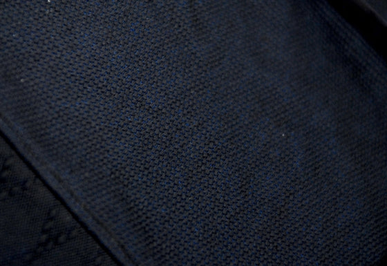 Sashiko fabric close-up.