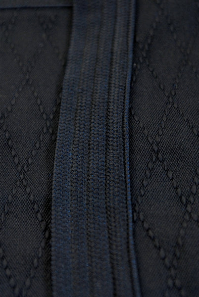 Hishi-zashi stitching close-up.